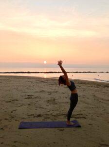 yoga en la playa, Valencia